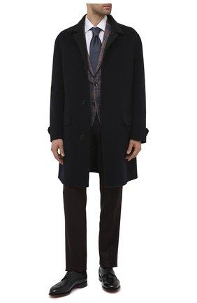 Мужские кожаные дерби SANTONI темно-синего цвета, арт. MCC017026MC3HVVDU59 | Фото 2