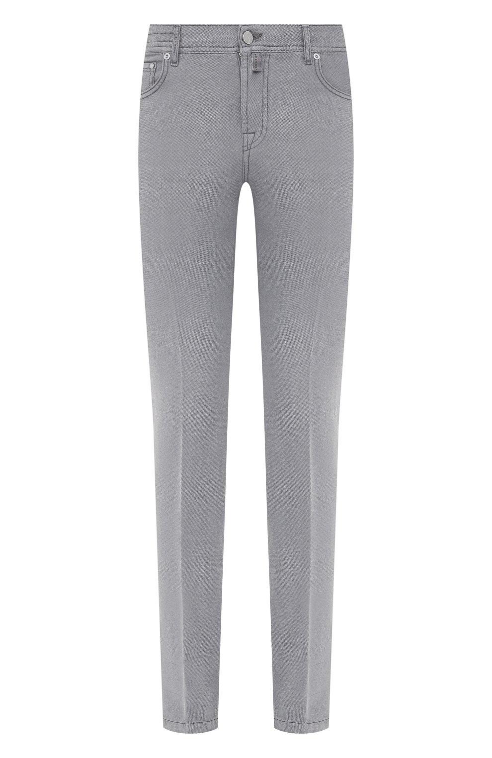 Мужские брюки KITON серого цвета, арт. UPNJSJ07T45   Фото 1