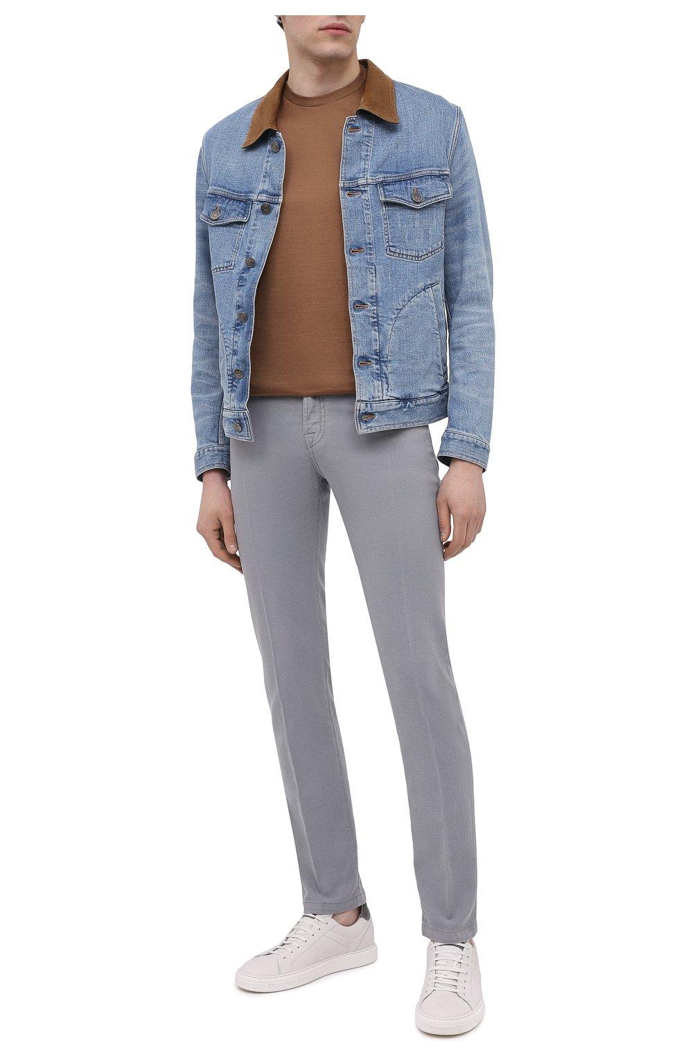 Мужские брюки KITON серого цвета, арт. UPNJSJ07T45   Фото 2