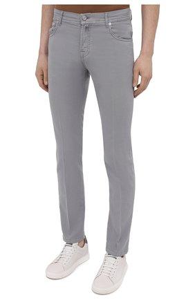 Мужские брюки KITON серого цвета, арт. UPNJSJ07T45   Фото 3
