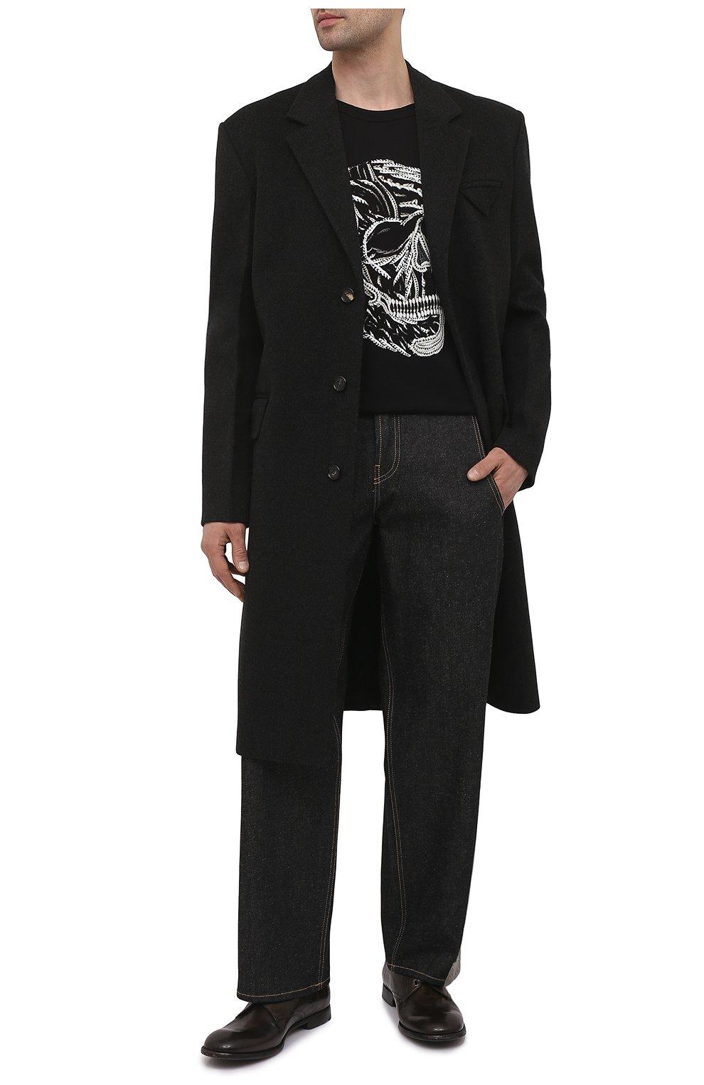 Мужские кожаные дерби michelangelo DOLCE & GABBANA хаки цвета, арт. A10666/A1828   Фото 2