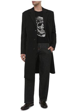 Мужские кожаные дерби michelangelo DOLCE & GABBANA хаки цвета, арт. A10666/A1828 | Фото 2