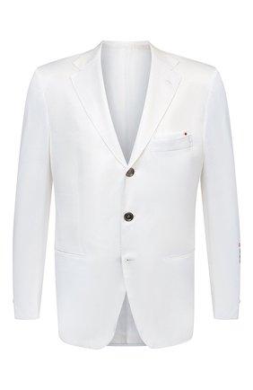 Мужской хлопковый пиджак KITON белого цвета, арт. UG289H07609 | Фото 1