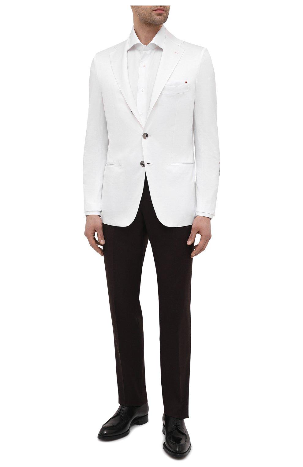 Мужской хлопковый пиджак KITON белого цвета, арт. UG289H07609   Фото 2