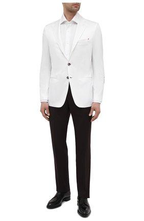 Мужской хлопковый пиджак KITON белого цвета, арт. UG289H07609 | Фото 2