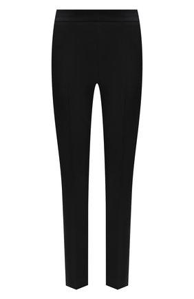Женские шерстяные брюки BOSS черного цвета, арт. 50441976 | Фото 1