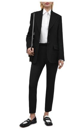 Женские шерстяные брюки BOSS черного цвета, арт. 50441976 | Фото 2