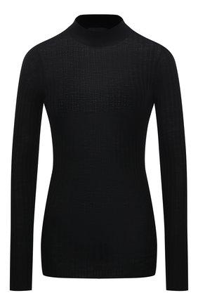 Женский шерстяной пуловер ATM ANTHONY THOMAS MELILLO черного цвета, арт. AW8401-TAD | Фото 1