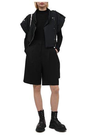Женский шерстяной пуловер ATM ANTHONY THOMAS MELILLO черного цвета, арт. AW8401-TAD | Фото 2