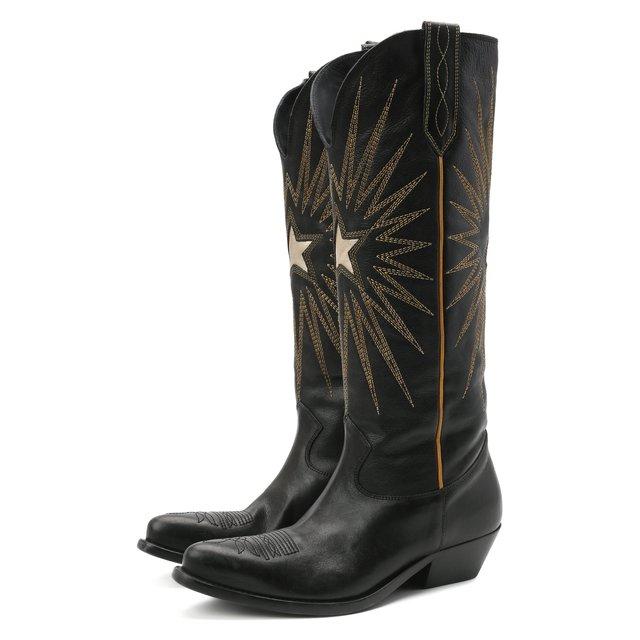Кожаные сапоги Wish Star Golden Goose Deluxe Brand