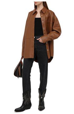 Женские кожаные сапоги wish star low GOLDEN GOOSE DELUXE BRAND черного цвета, арт. GWF00136.F000571 | Фото 2