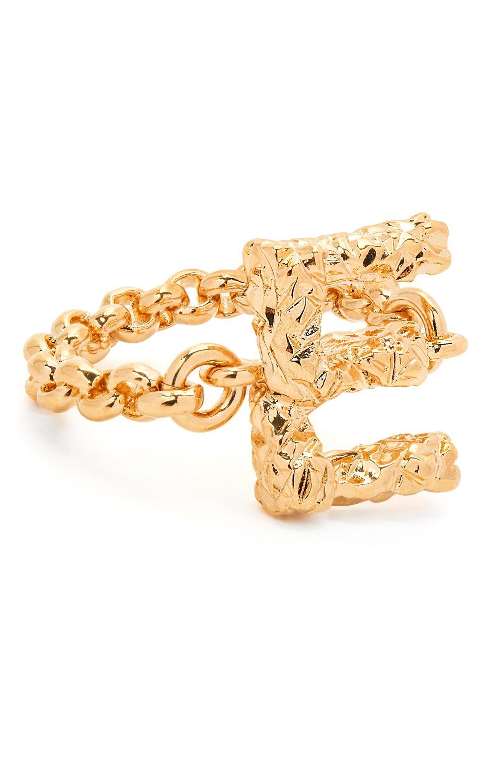 Женское кольцо alphabet e CHLOÉ золотого цвета, арт. CHC21SFR0ECB7 | Фото 1