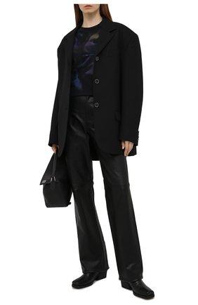 Женский хлопковый свитшот SAINT LAURENT темно-синего цвета, арт. 652507/Y36CZ | Фото 2