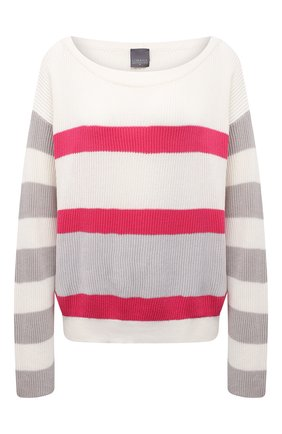 Женский хлопковый пуловер LORENA ANTONIAZZI светло-бежевого цвета, арт. P21113BM020/255 | Фото 1