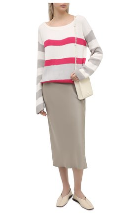 Женский хлопковый пуловер LORENA ANTONIAZZI светло-бежевого цвета, арт. P21113BM020/255 | Фото 2