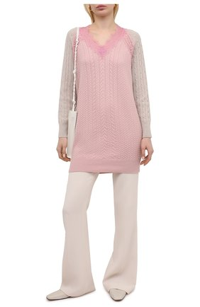 Женское шерстяное платье STELLA MCCARTNEY светло-розового цвета, арт. 602884/S2237 | Фото 2