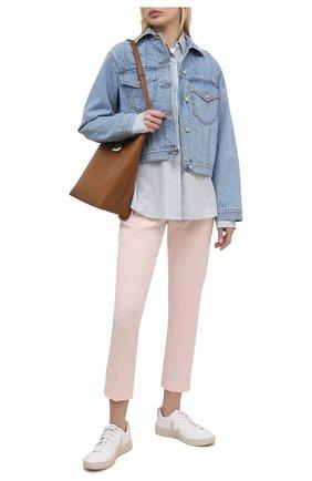 Женские шерстяные брюки STELLA MCCARTNEY светло-розового цвета, арт. 601806/SPA03 | Фото 2