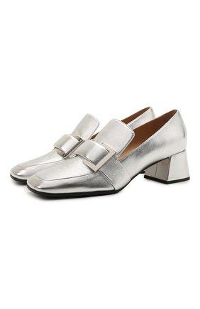 Женские кожаные туфли prince SERGIO ROSSI серебряного цвета, арт. A86680-MNAL13 | Фото 1