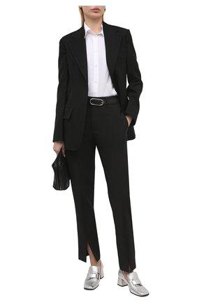 Женские кожаные туфли prince SERGIO ROSSI серебряного цвета, арт. A86680-MNAL13 | Фото 2