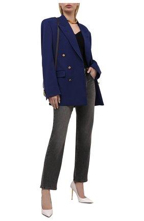 Женские кожаные туфли padlock TOM FORD белого цвета, арт. W2271T-LKD002 | Фото 2