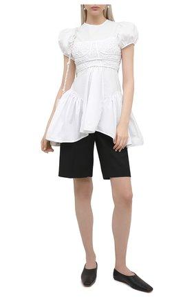 Женская хлопковая блузка CECILIE BAHNSEN белого цвета, арт. SC21-0010 | Фото 2