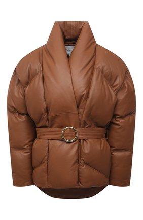 Женская кожаный пуховик FRAME DENIM коричневого цвета, арт. LWLT0468 | Фото 1