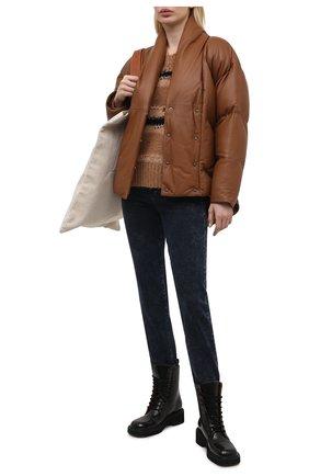 Женская кожаный пуховик FRAME DENIM коричневого цвета, арт. LWLT0468 | Фото 2