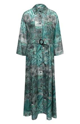 Женское хлопковое платье MAX&MOI зеленого цвета, арт. E21RIHANA | Фото 1