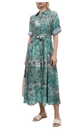 Женское хлопковое платье MAX&MOI зеленого цвета, арт. E21RIHANA | Фото 2