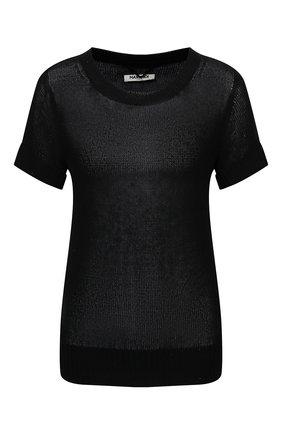 Женский пуловер из шелка и льна MAX&MOI черного цвета, арт. E21PENNY | Фото 1