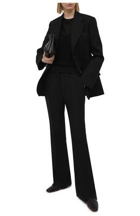 Женский пуловер из шелка и льна MAX&MOI черного цвета, арт. E21PENNY | Фото 2