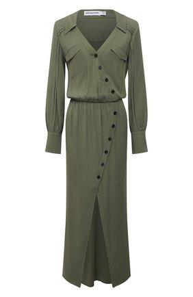 Женское платье из вискозы SELF-PORTRAIT хаки цвета, арт. SS21-024K | Фото 1