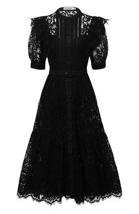 Женское хлопковое платье SELF-PORTRAIT черного цвета, арт. SS21-003M   Фото 1
