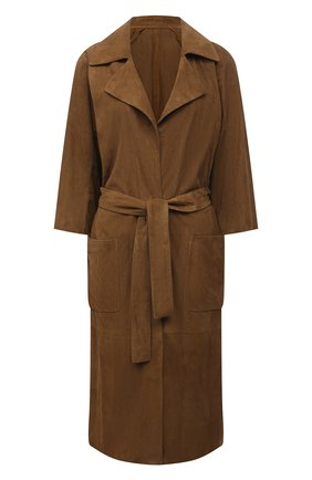 Женское замшевое пальто DROME коричневого цвета, арт. DPD5772P/D714P | Фото 1
