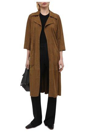 Женское замшевое пальто DROME коричневого цвета, арт. DPD5772P/D714P | Фото 2