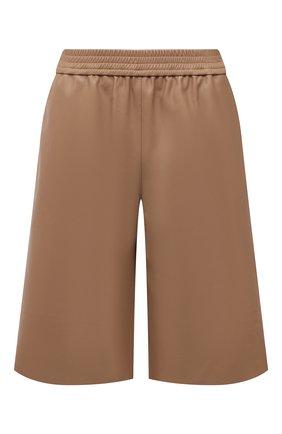 Женские кожаные шорты DROME бежевого цвета, арт. DPD7034P/D400P | Фото 1