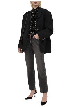 Женские замшевые туфли AQUAZZURA черного цвета, арт. AIMMIDL0-SUE-000 | Фото 2