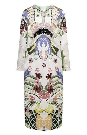Женское хлопковое платье VALENTINO разноцветного цвета, арт. VB3VAVA167S | Фото 1
