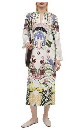 Женское хлопковое платье VALENTINO разноцветного цвета, арт. VB3VAVA167S | Фото 2