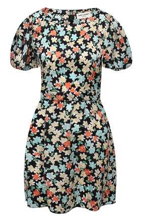 Женское шелковое платье SAINT LAURENT разноцветного цвета, арт. 647954/Y5C61 | Фото 1