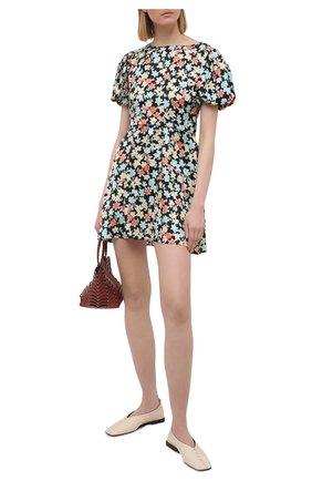 Женское шелковое платье SAINT LAURENT разноцветного цвета, арт. 647954/Y5C61 | Фото 2