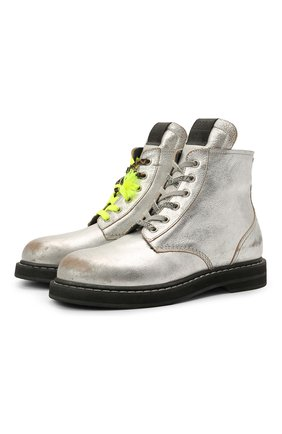 Женские кожаные ботинки ele GOLDEN GOOSE DELUXE BRAND серебряного цвета, арт. GWF00187.F001200 | Фото 1