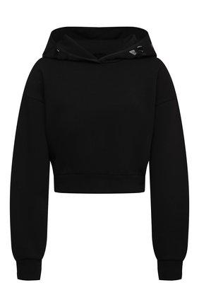 Женский хлопковое худи MONCLER черного цвета, арт. G1-093-8G787-10-809LC | Фото 1