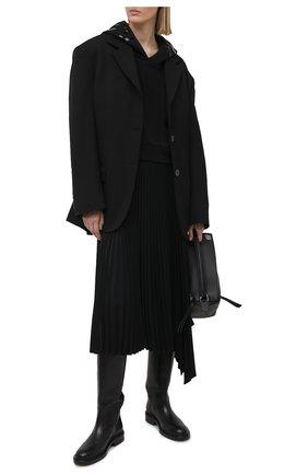 Женский хлопковое худи MONCLER черного цвета, арт. G1-093-8G787-10-809LC   Фото 2