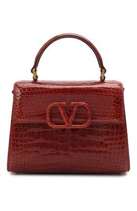 Женская сумка valentino garavani vsling из кожи аллигатора VALENTINO коричневого цвета, арт. VW2B0F53/XDE/AMIS | Фото 1