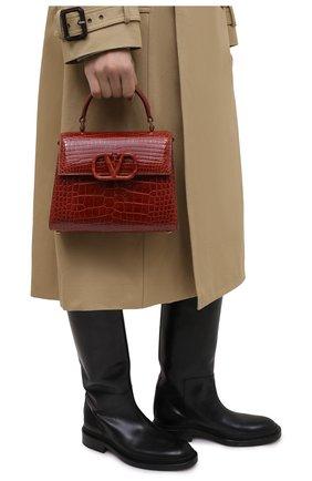 Женская сумка valentino garavani vsling из кожи аллигатора VALENTINO коричневого цвета, арт. VW2B0F53/XDE/AMIS | Фото 2
