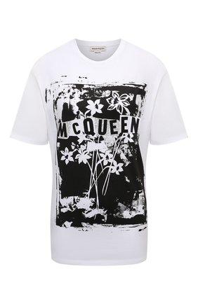 Женская хлопковая футболка ALEXANDER MCQUEEN белого цвета, арт. 659731/QZAC4 | Фото 1
