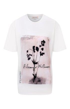 Женская хлопковая футболка ALEXANDER MCQUEEN белого цвета, арт. 659730/QZAC3 | Фото 1