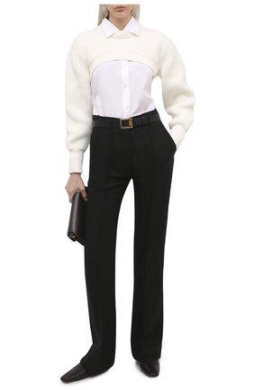 Женский хлопковый пуловер ALEXANDER MCQUEEN светло-бежевого цвета, арт. 659532/Q1AUF | Фото 2