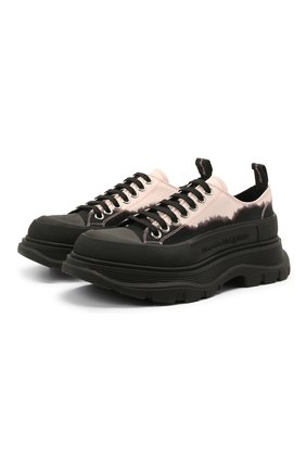 Женская текстильные ботинки tread slick ALEXANDER MCQUEEN черного цвета, арт. 650810/W4PF1   Фото 1